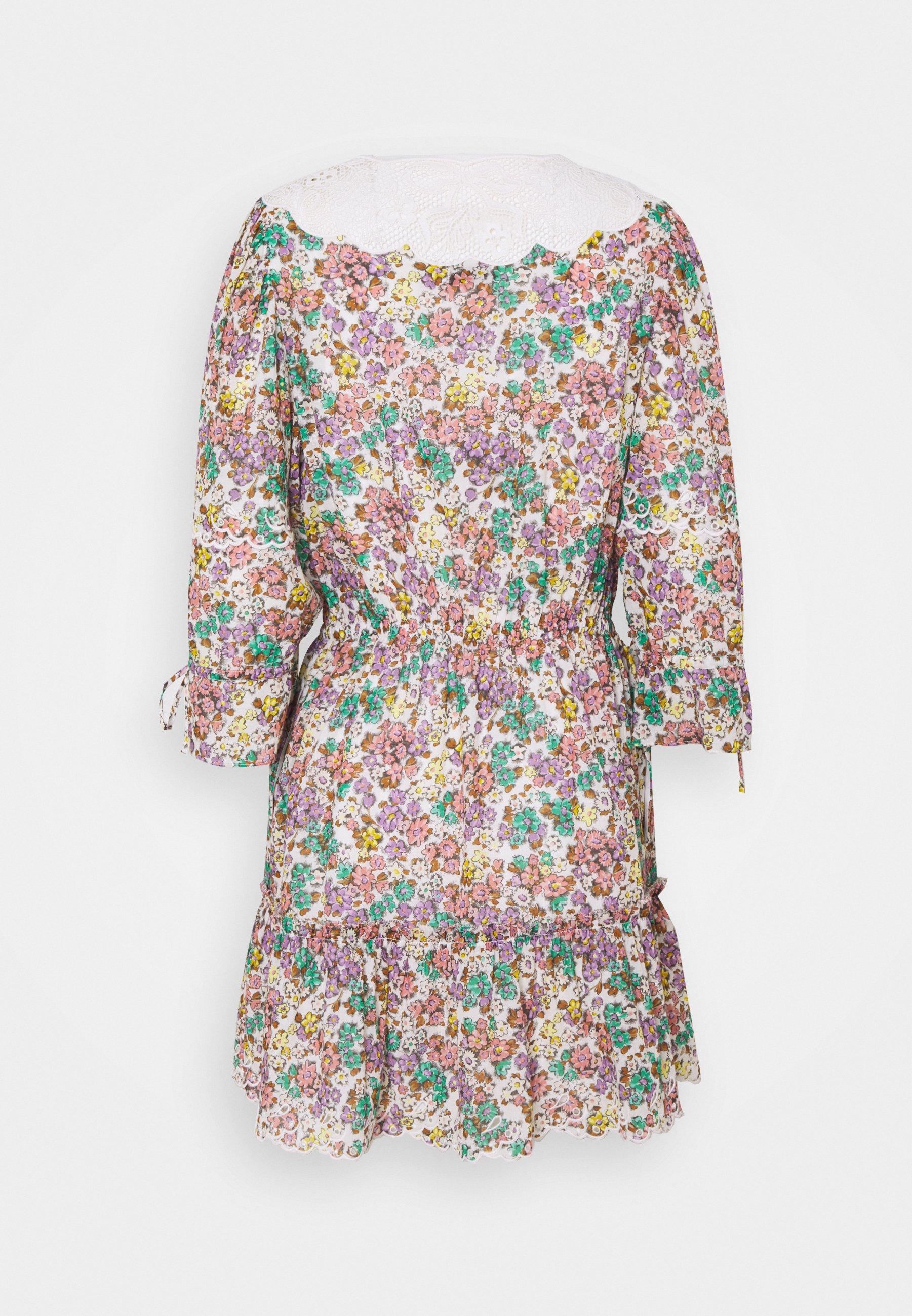 Women PRINTED MINI TIERED DRESS - Day dress