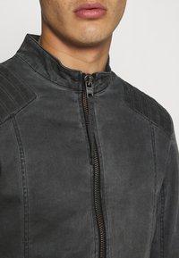 Tigha - TOMAS - Denim jacket - vinatge black - 5
