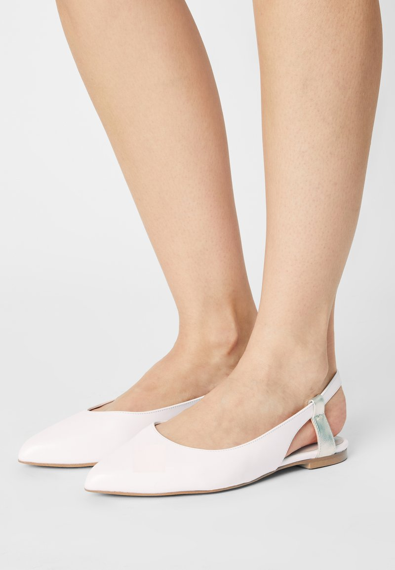 Zign - Slingback ballet pumps - white