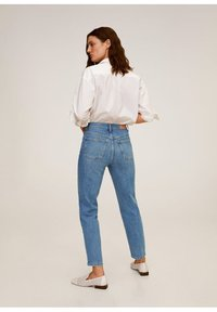 Mango - Relaxed fit jeans - mittelblau - 2