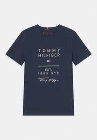 Tommy Hilfiger - GRAPHIC - T-shirt print - twilight navy - 0