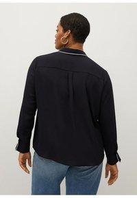 Violeta by Mango - PIPING - Button-down blouse - schwarz - 2