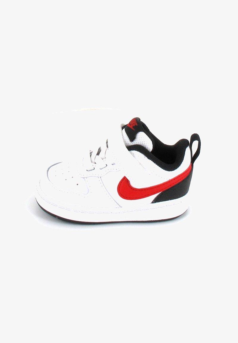 Nike Sportswear - COURT BOROUGH 2 UNISEX - Baskets basses - white/university red/black