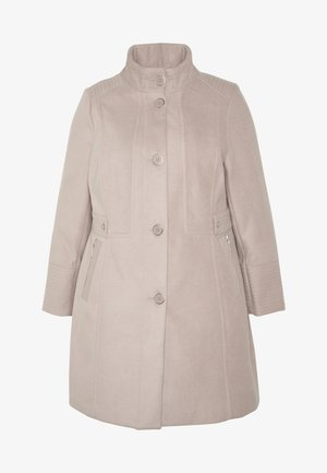 FAUX FUNNEL NECK COAT - Abrigo - neutral