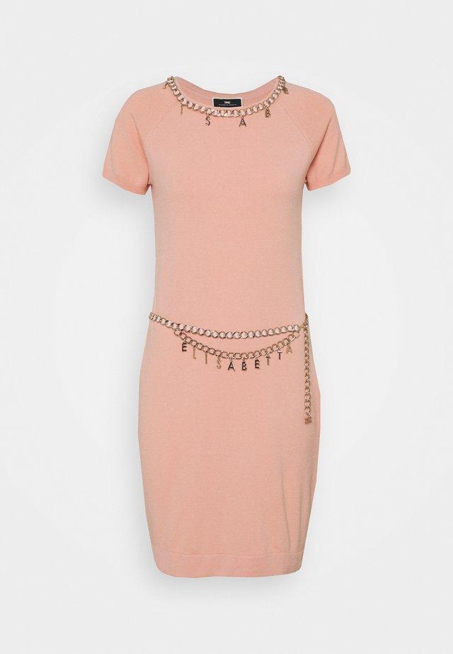 Sukienka dzianinowa - rosa antico