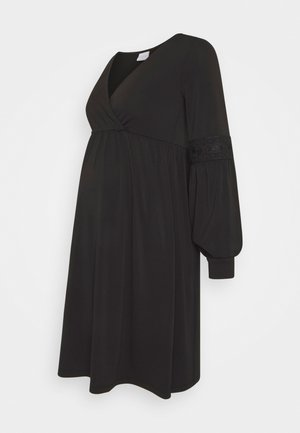 MLLUANDA TESS DRESS - Žerzejové šaty - black