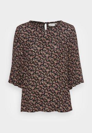 KASALLY AMBER BLOUSE - Bluser - black/brown/ bedo petit