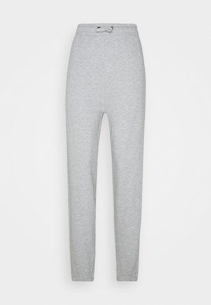 HIGH WAISTED LOOSE FIT JOGGERS  - Tracksuit bottoms - mottled light grey