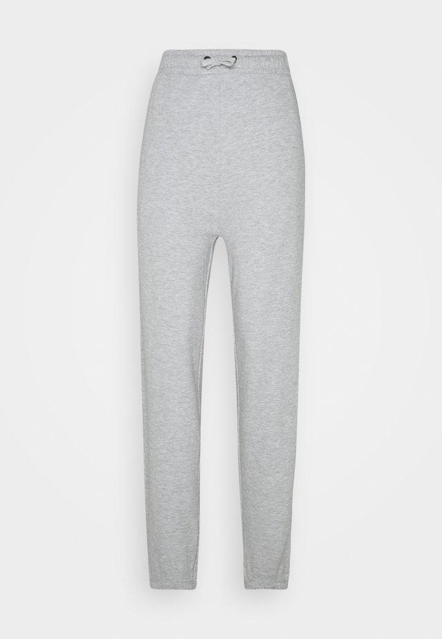 High Waist Loose Fit Joggers - Tracksuit bottoms - mottled light grey