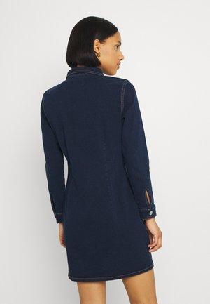 PCSILIA DRESS - Denim dress - dark blue denim