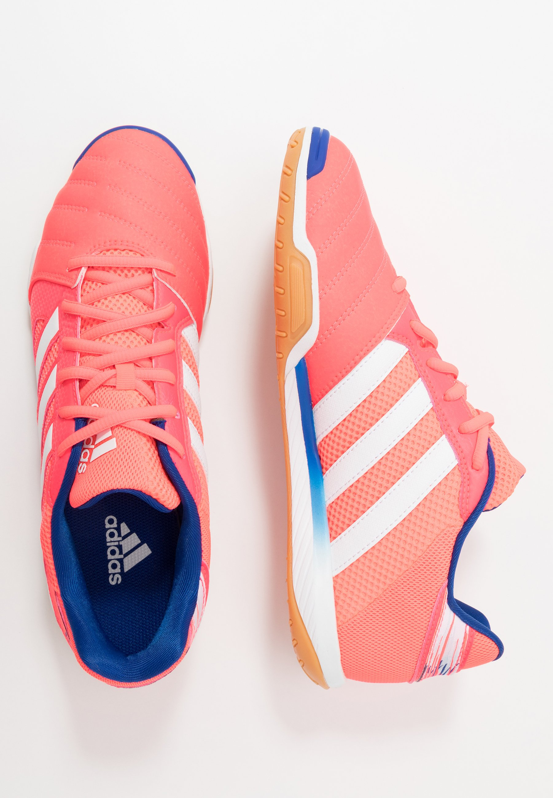 TOP SALA FOOTBALL SHOES INDOOR Fotbollsskor inomhusskor signal pinkfootwear whiteteam royal blue