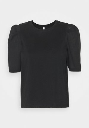 ONLRASHA LIFE PUFF MIX - Basic T-shirt - black