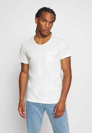 JORAUTUMN ORGANIC TEE VNECK - Basic T-shirt - cloud dancer