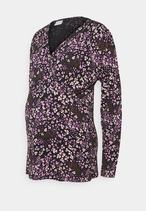 MLMAI TESS - Long sleeved top - black/purple