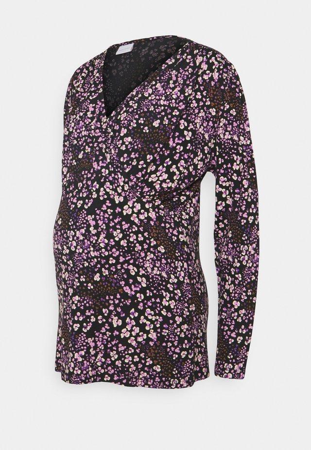 MLMAI TESS - Top sdlouhým rukávem - black/purple