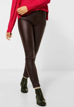 Leather trousers - rot