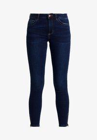 Pieces - PCJAMIE ZIP - Jeans Skinny Fit - dark blue denim - 3
