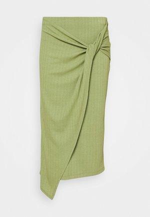 BEKE SKIRT - Wrap skirt - oliv