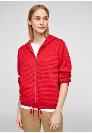 Zip-up hoodie - red