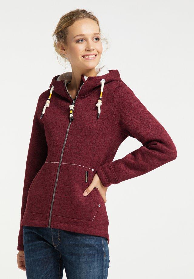 Fleece jacket - bordeaux melange