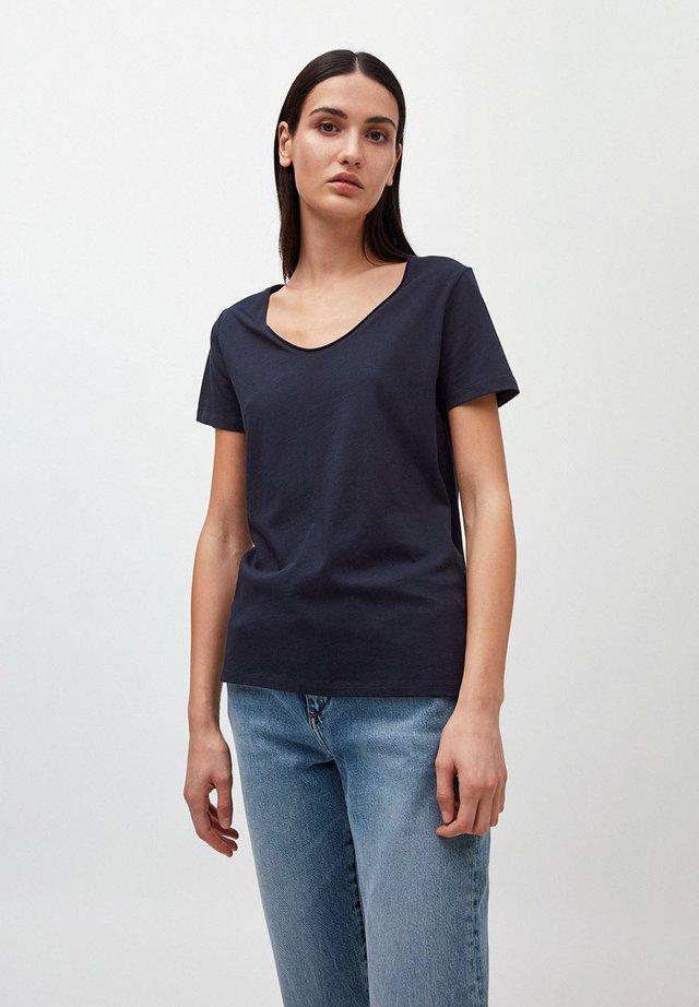 HAADIA - Basic T-shirt - navy