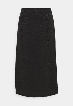 ELINA SKIRT - Falda larga - black