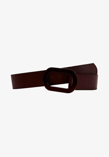 MIT OVALER SCHNALLE - Belt - brown