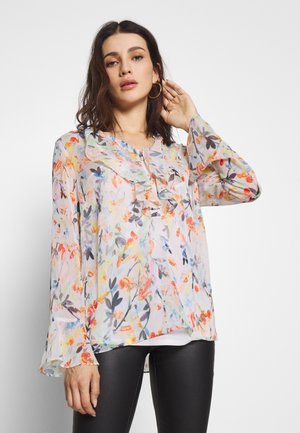 WATERCOLOUR LEAF - Blouse - ivory