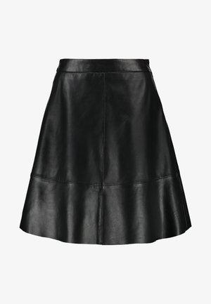 ONLLENA LEATHER SKATER SKIRT  - A-line skirt - black
