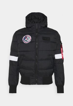 HOODED PUFFER NASA - Vinterjacka - black