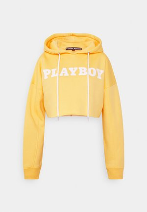 PLAYBOY SPORTS CROP HOODIE - Sweatshirt - yellow