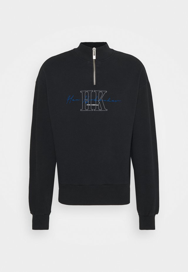 HALF ZIP - Sweatshirt - faded black