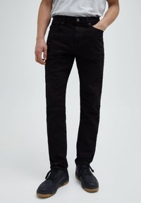 PULL&BEAR - Straight leg -farkut - black - 0