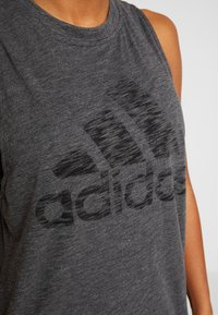 adidas Performance - WINNERS TANK - Topper - black melange - 5