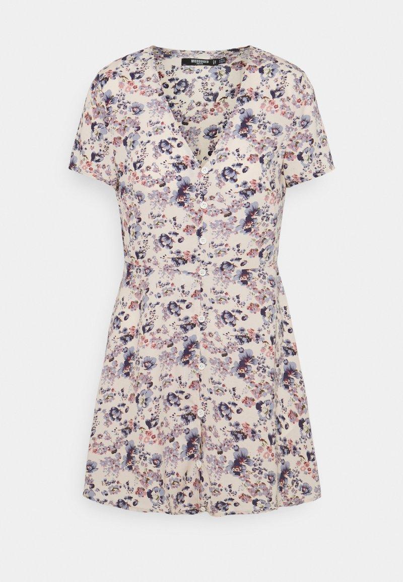 Missguided Petite - BUTTON THROUGH TEA DRESS - Jurk - lilac