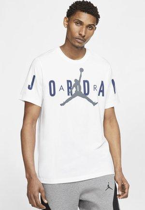 BRAND CREW - Print T-shirt - white/navy/flint grey