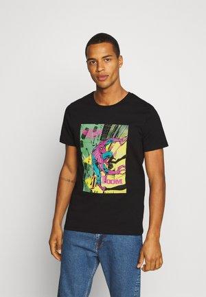 JORSPIDER TEE CREW NECK - T-shirt med print - black