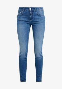 CLOSED - BAKER LONG - Jean slim - mid blue - 4