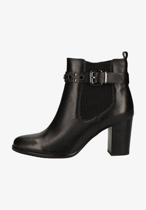 High heeled ankle boots - black nappa 022