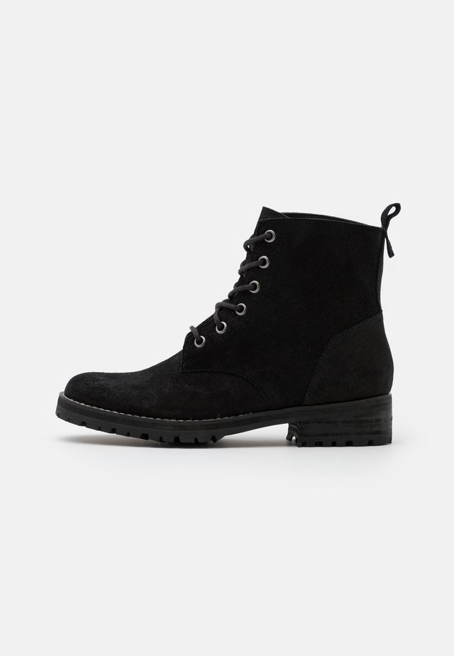 COMMANDO BOOT - Bottines à lacets - black