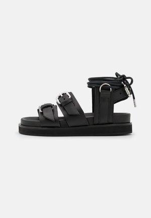 AVEC LACETS - Sandály na platformě - black