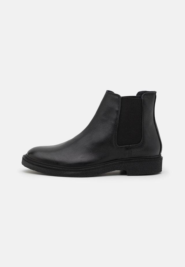 SLHLUKE CHELSEA BOOT - Korte laarzen - black