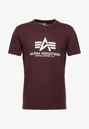 BASIC - T-shirt print - deep maroon