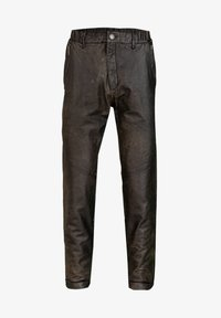 YOUNG POETS SOCIETY - Leather trousers - vintage black - 4