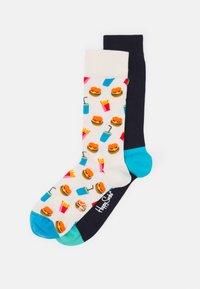 Happy Socks - BURGER SOCK BURGER SOCK UNISEX 2 PACK - Socks - multi-coloured - 0