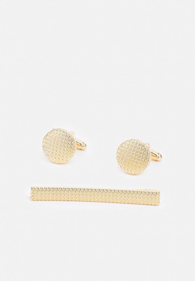 Burton Menswear London - ETCHE CUFFLINK SET - Kalvosinnapit - gold-coloured
