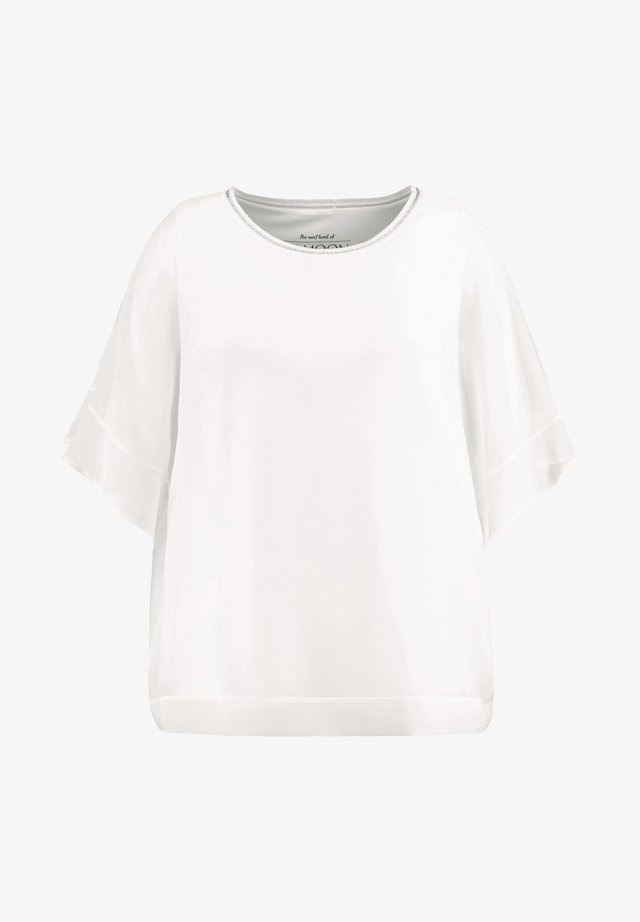 2-IN-1 BLUSE IM LEGEREN STYLE - Basic T-shirt - offwhite