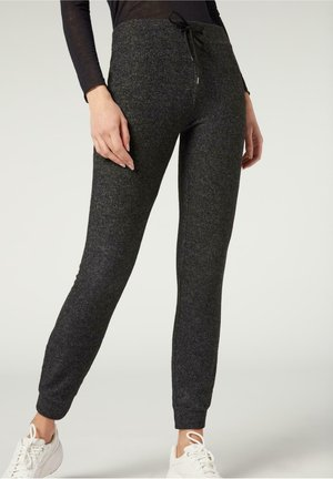 KOMFORT - Leggings - Trousers - antracite melange