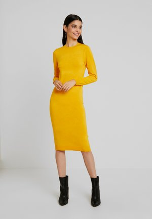 Jumper dress - dark yellow