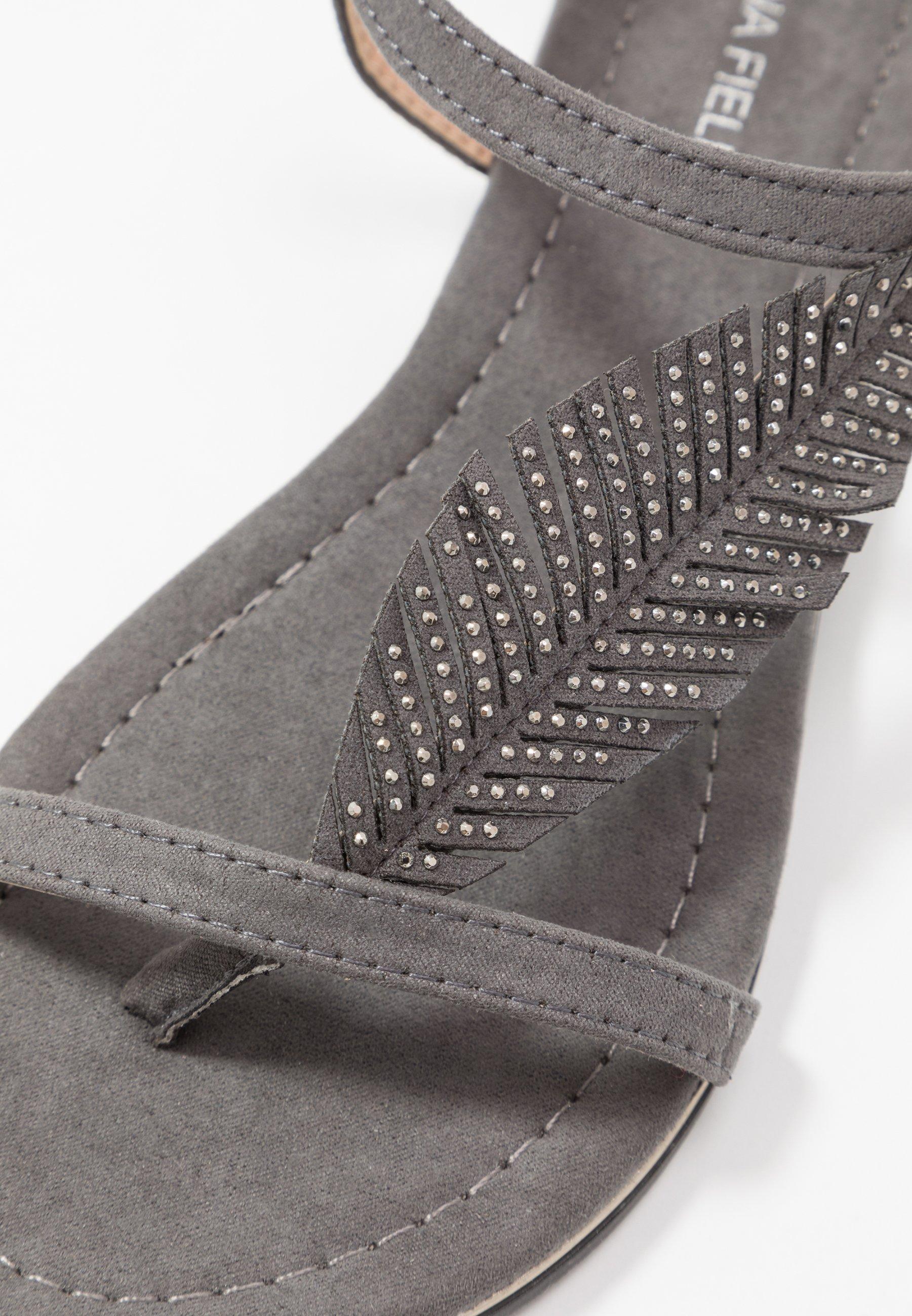 Anna Field Flip Flops - grey